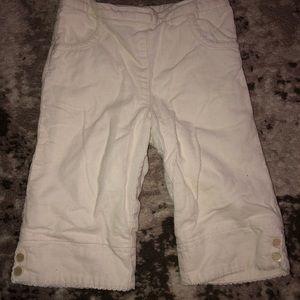 NWT Ralph Lauren white corduroy baby pants